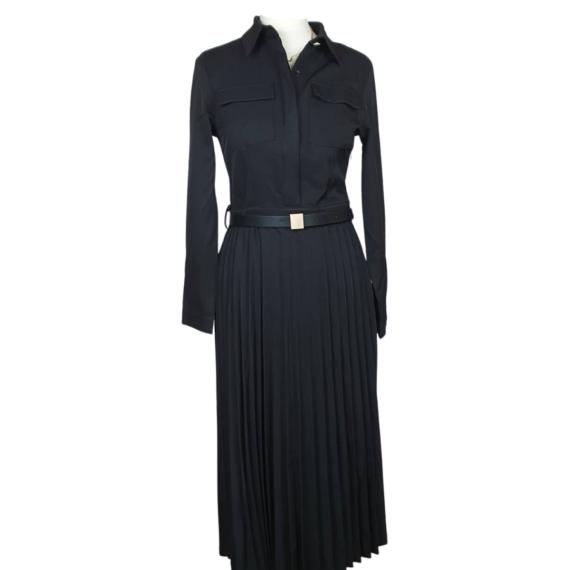 robe-longue-noir-volant-plisse